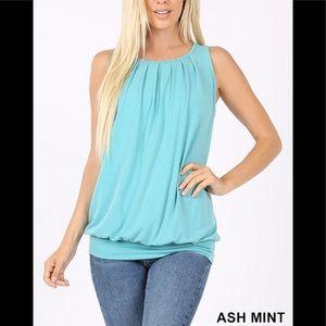NWT Plus Ash Mint Top